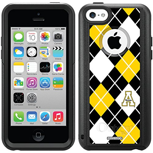 Appalachian State Argyle Design On A Black Otterbox® Commuter Series® Case For Iphone 5C