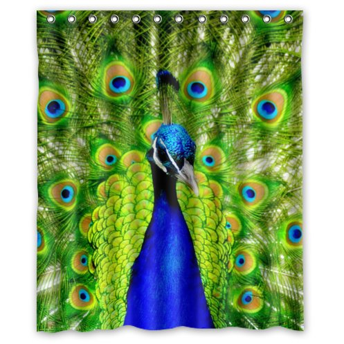 Special Custom Beautiful Peacock Mildrew Resistant Shower Curtain 60