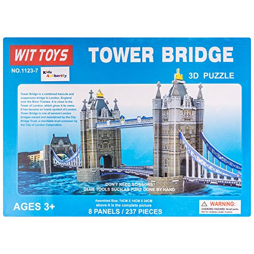 Kids Authority Kids DIY 3D Puzzle Tower Bridge Building Blocks Set Kids Puzzle