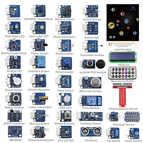 SunFounder-37-Modules-Sensor-Kit-V20-for-Raspberry-Pi-3-2-Zero-RPi-1-Model-B-A-40Pin-GPIO-Extension-Board-Jump-wires