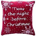 12x12 Snowy Night Christmas Throw Pillow