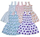 Sathiyas Baby Girls Gathered Dresses` (5) (asvinf15-1_Multicolour_0-6 Months)