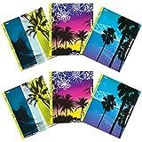 Mead Trapper Keeper Snapper Trapper 2-Pocket Folders, Fun in the Sun, Assorted Designs, 6 Pack (73431)