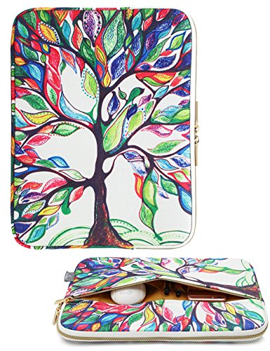 CoolBell 15.6 Inch Laptop Sleeve Case Cover With Colorful Life Tree Pattern Ultrabook Sleeve Bag