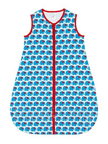 100% Cotton Blue Newborn Sleeping Bag - 1 TOG - Small (0-6 Months)