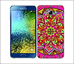 Galaxy Printed 2335 Mandala Flowers Par Hard Cover for Samsung A7