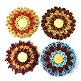 Set Of 4 Hand-Crafted, Quilled Tea Light Holders - B00XT52F4W