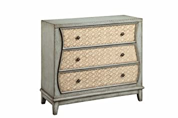 Stein World Furniture 3 Drawer Chest with Geo Pattern, Aloe Mist