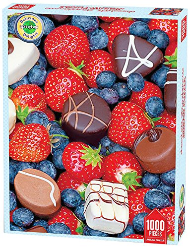 Springbok Chocolate Strawberries Delicious Delights Jigsaw Puzzle (1000-Piece)