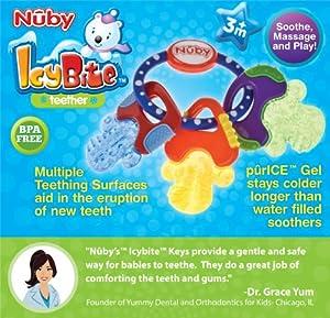 Llaves para morder Nuby Icybite para bebé, duras y suaves