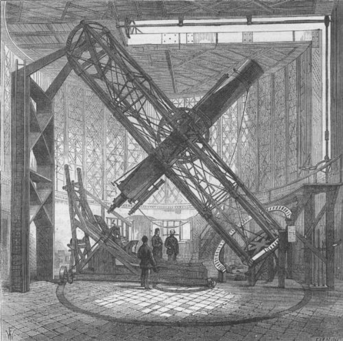 Greenwich Observatory: The Great Equatorial Telescope In The Dome. London,C1880
