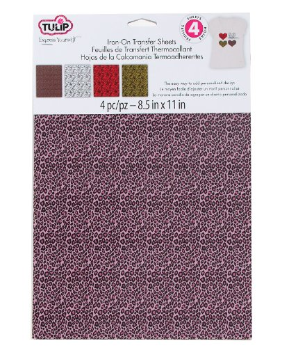 Tulip Iron-On Transfer Sheets Animal Prints 4-Pack front-516869