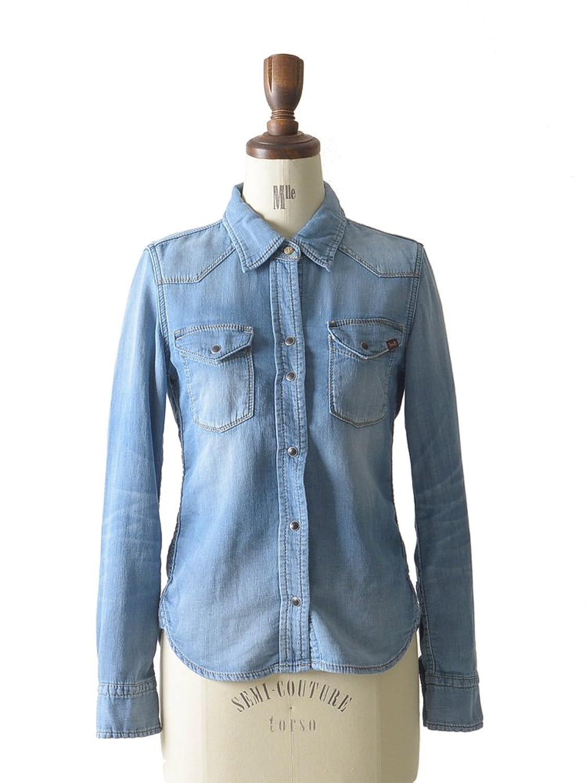 Amazon.co.jp: (ヤヌーク)YANUK DENIT WESTERN SHIRT/デニット ウェスタンシャツ・57141129・57151110: 服&ファッション小物通販