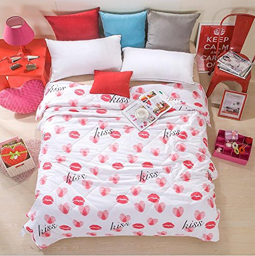 "Buy Home Comfortable 100% Cotton Comforter for Summer Air-Conditioning Quilt 1PC (78"" x 90&quot..."