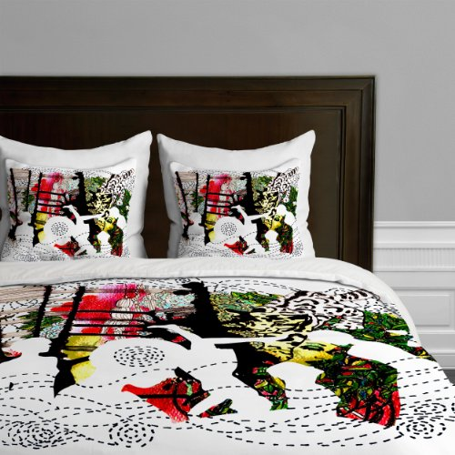 Deny Designs Randi Antonsen Jungle 2 Duvet Cover, Queen back-897097