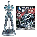 DC Superhero Steel White Pawn Chess Piece with Collector Magazine by DC Superhero Steel