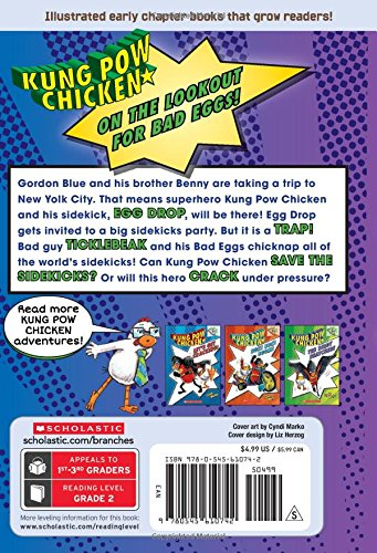 Heroes on the Side: A Branches Book (Kung POW Chicken #4) (Kung Pow Chicken. Scholastic Branches)