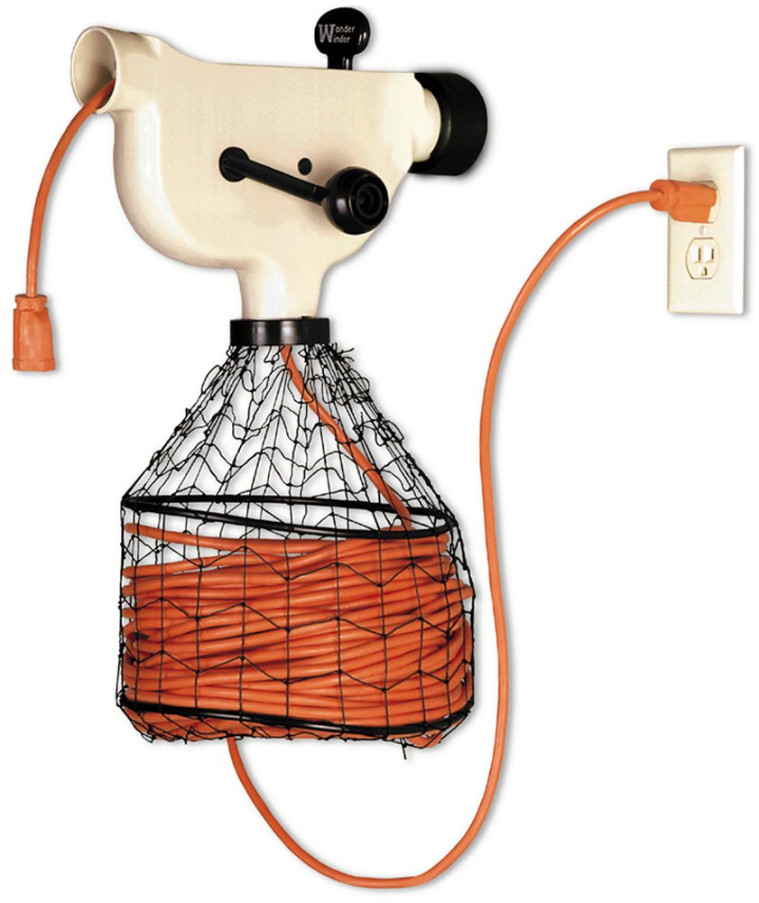Electrical Cord Hangers: Extension ELECTRIC Cord Winder Holder Wall Mounted Storage