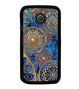 iFasho modern design in multi color aztec pattern Back Case Cover for Moto E