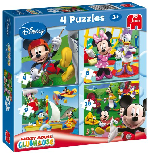 Imagen principal de Jumbo 13647 Disney La casa de Mickey - Puzzles (4 unidades, 4, 6, 9 y16 piezas)