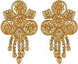 RK Fashion Gold Brass Stud Earrings For Women (RKGCE0016)