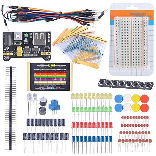 Diymall® Electronic Fans Kit Breadboard Cable Resistor Capacitor LED Potentiometer for Arduino Learning Kit