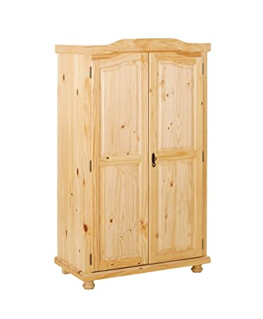 Links 30500100 Genf Armoire Rustique 2 Portes Vernis Naturel 56 x 104 x 180 cm