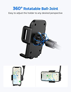 8.5 inch Aluminum Long Arm Strong Magnets Window Suction Cup Mount for iPhone LG and Other All Cell Phone Samsung EXSHOW Magnetic Windshield Car Cell Phone Holder