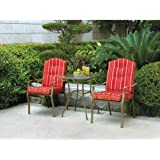 3 Piece Bistro Set Is a Smart Touch to Your Garden Layout & Backyard Design Ideas.