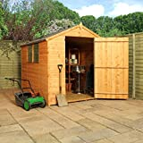 8ft x 6ft Shiplap Apex Wooden Storage Shed - Brand New Large Single Door 8x6 Tongue and Groove Sheds
