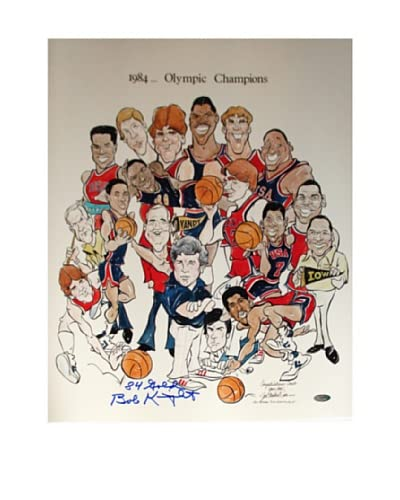 Steiner Sports Memorabilia Bob Knight 1984 Olympic Champions Cartoon Signed Photo