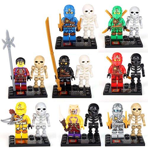 ninja-ninjago-lloyd-skylor-zane-skeleton-jay-8-minifigures-building-bricks