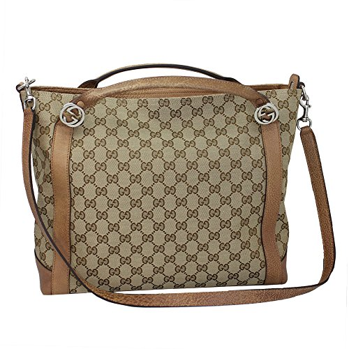 Gucci Brie Womens GG canvas Tote Bag W/shoulder strap 323675