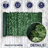 """58.5''tall X 117"""" Long Faux Artificial Ivy Leaf Privacy Fence Screen Decoration Panels"""