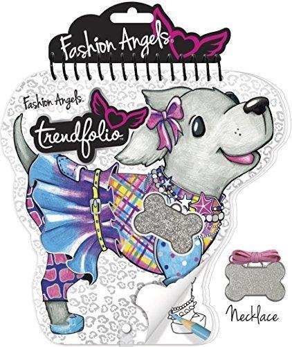 Dog Trendfolio Sketchbook and Necklace Set