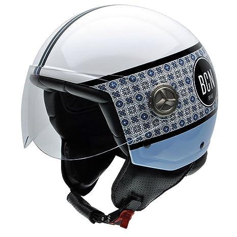 NZI 050308G798 Zeta Modernism by BCN Brand, Casque de Moto, Taille L Multicolore