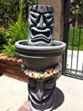 Angry Tiki Fountain W/ Happy Tiki Base (Granite Grey)