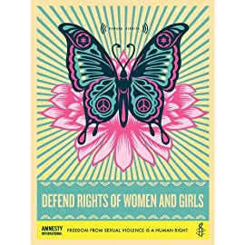 Defend Rights of Women & Girls- Shepard Fairey Poster