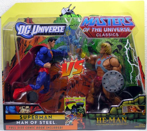 Picture of Mattel DC Universe & Masters of the Universe Classics Exclusive Action Figure 2Pack Superman Vs. HeMan (B003AONO8I) (Superman Action Figures)