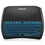 Wireless Mini Keyboard and Mouse Combination Touchpad, 2019 New Upgraded Rechargeable Multimedia Handheld Remote Control D8 Keyboard Supports Android TV Box, Smart TV, PC, TPTV, PS4 (Color: D8 7 colors)