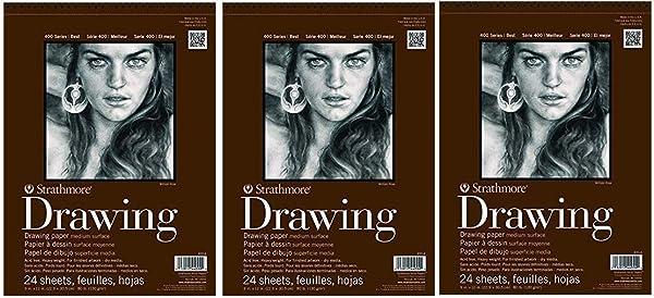Strathmore (400-5) STR-400-5 24 Sheet No.80 Drawing Pad, 11 by 14, 11x14, Cream (?hr?? P?ck, Cream) (Color: Cream, Tamaño: ?hr?? P?ck)