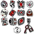 Timeline Trinketts Birthstone Beads and Charms for Pandora Bracelets - January July Ruby Red Garnet