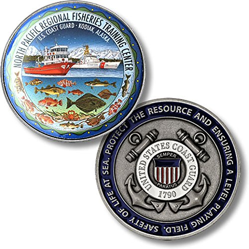 USCG North Pacific Regional Fisheries Training Center Kodiak, Alaska Challenge Coin - 1