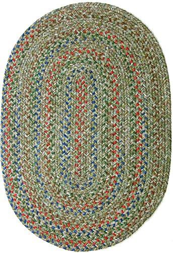 RRI Sonya Indoor/Outdoor Oval Reversible Braided Rug, 3 by 5-Feet, Moss Multicolor