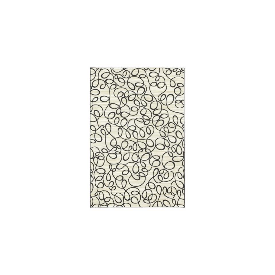 Shaw Doodles/Natural Printed Area Rug                                                                                               5 x 74