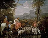 Polyster Canvas ,the Imitations Art DecorativeCanvas Prints Of Oil Painting 'Lione Andrea Di El Viaje De Jacob 17 Century ', 16 X 20 Inch / 41 X 50 Cm Is Best For Gym Artwork And Home Gallery Art And Gifts
