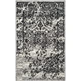 Safavieh Adirondack Collection ADR101A Silver and Black Area Rug, 4 feet by 6 feet (4' x 6')