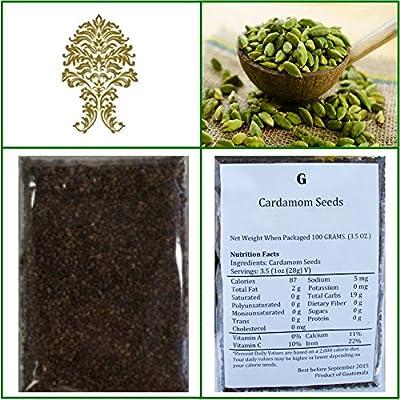 Decorticated Cardamom Seeds (elaichi, elachi, hal) - 7 Oz, 200g. by Ganeshaspice