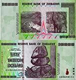 Zimbabwe Fifty Trillion Dollars 10 Piece Currency Lot in Archival Sleeves