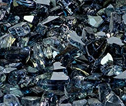 Quarter Inch Gunmetal Reflective Fire Glass, 10 Pound Bag